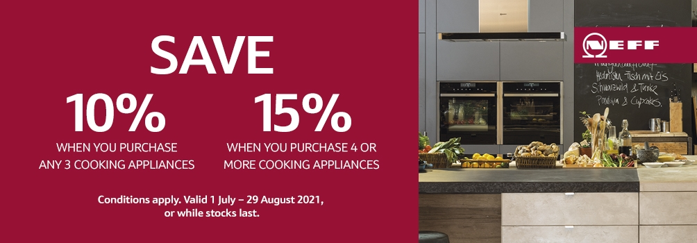 NEFF Save up to 15% July August 2021 Promotion