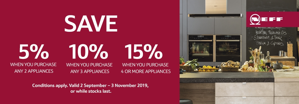 NEFF Save upto 15% on Appliances