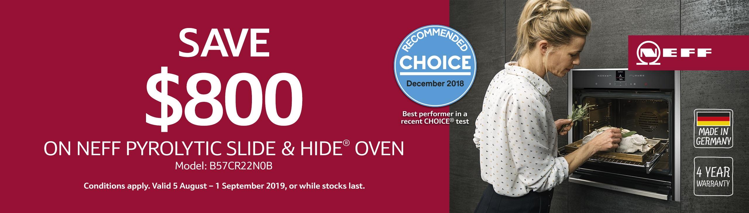 Save Upto $800 on Neff Oven