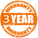 3 Year Warranty + 10 Year Compressor Warranty