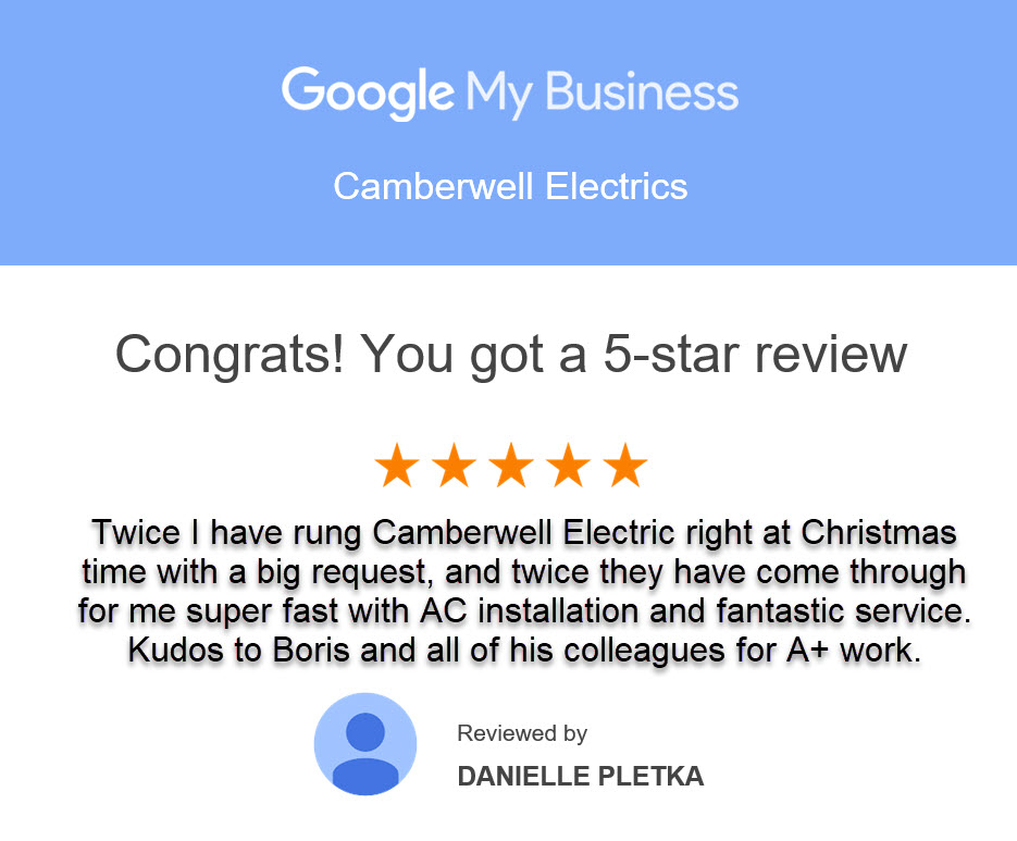 5 Star Customer Review by Danielle Pletka