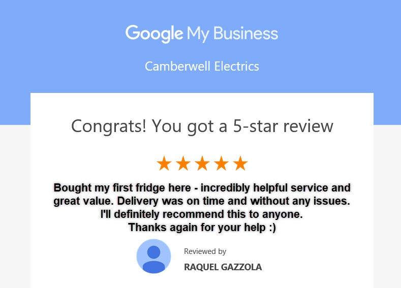 5 Star Customer Review by Raquel Gazzola