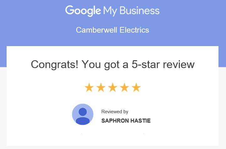 5 Star Customer Review by Saphron Hastie