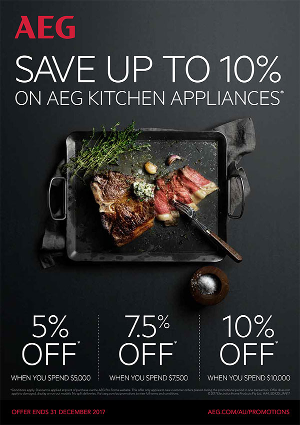 Camberwell Electrics AEG 10% off Kitchen Appliances