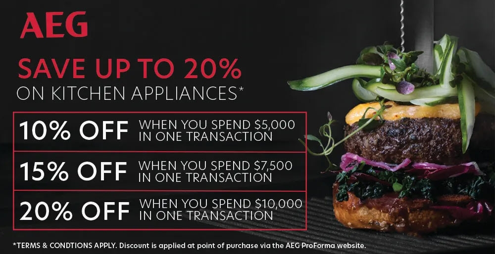 AEG Save Up 20% on AEG Kitchen Appliances May 2021