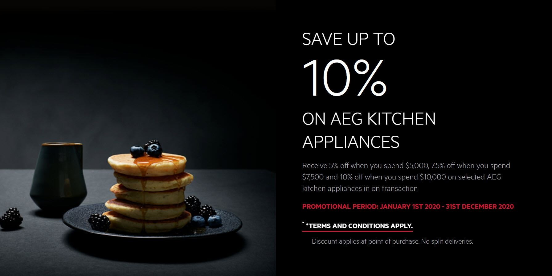 AEG Save Up 10% on AEG Kitchen Appliances