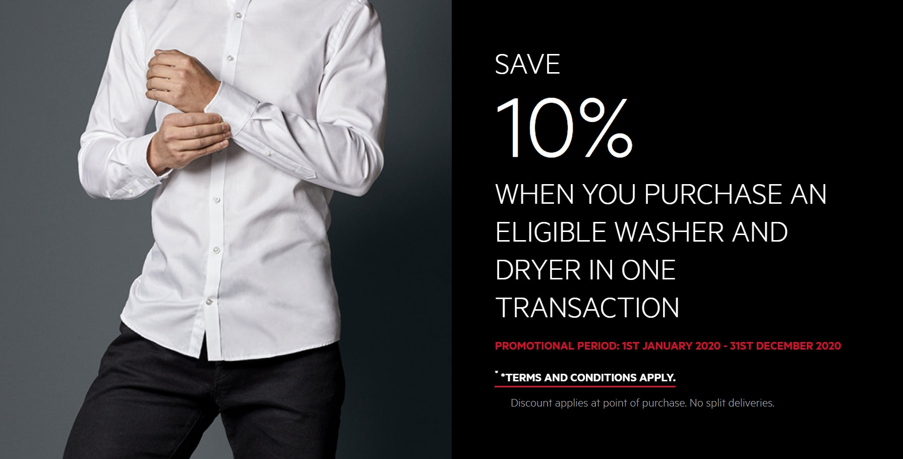 AEG SAVE 10% WHEN YOU PURCHASE AN ELIGIBLE WASHER AND DRYER
