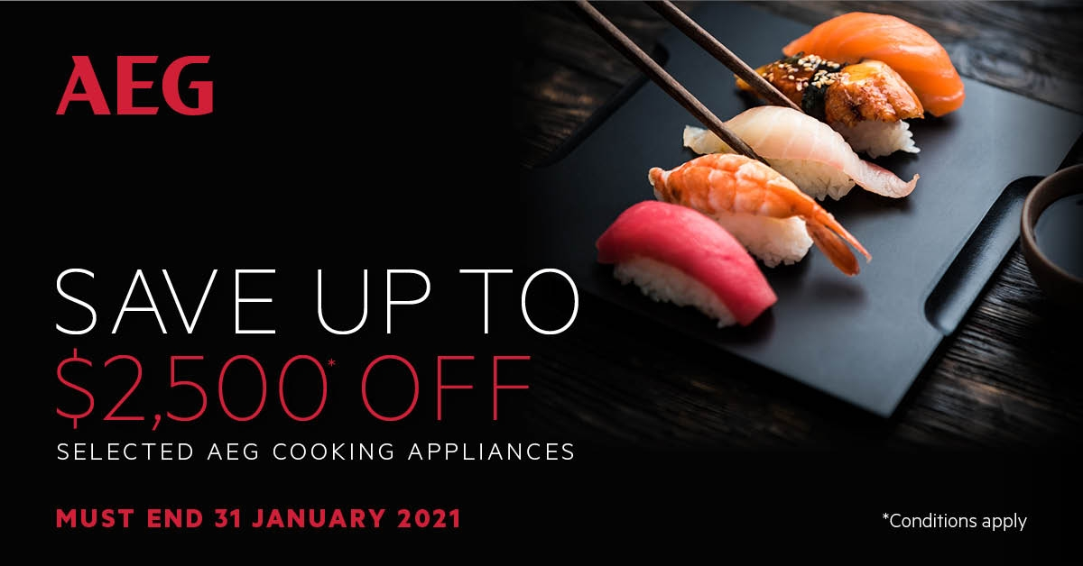 AEG save upto $2500 off Selected Cooking Appliances
