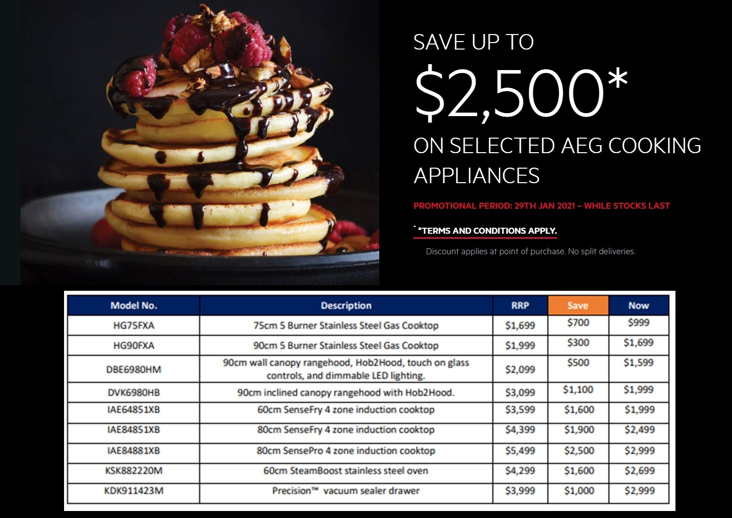 AEG Save up to $2500 On Selected AEG Kitchen Appliances March 2021
