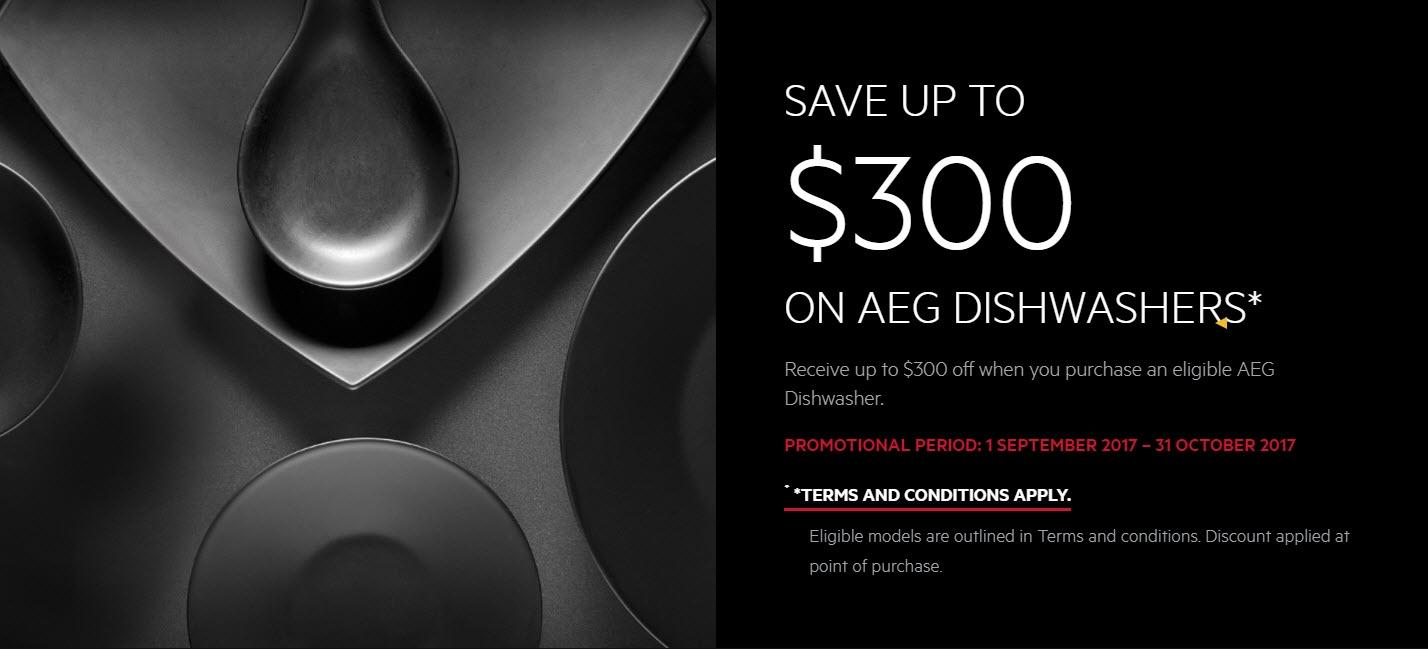 AEG Sept 21017 Save $300 on Dishwasher