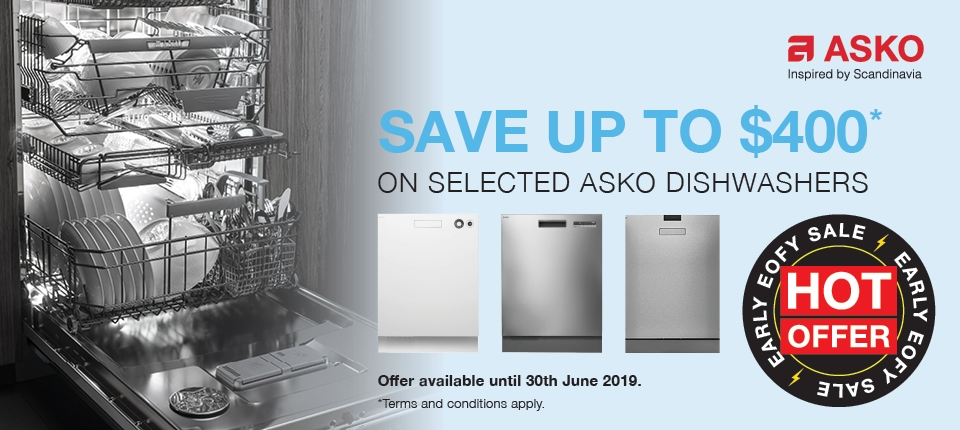 ASKO June 2019 Promotion Save $400 Selected Dishwasher
