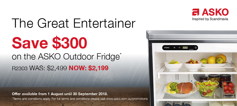 ASKO August 2018 Promotion Outdoor Fridge