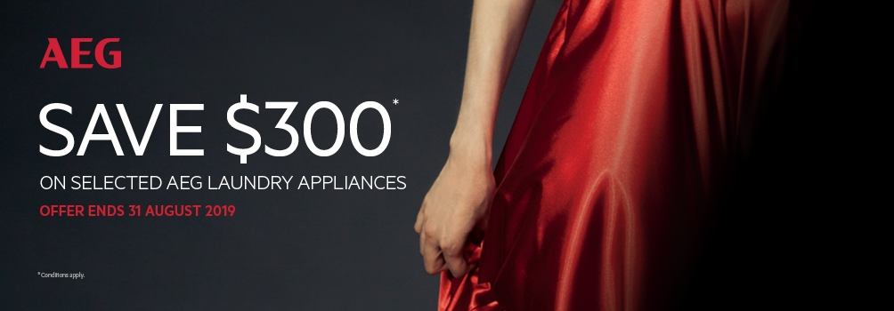 August 2019 Save $300 on AEG Selected Laundry Appliances