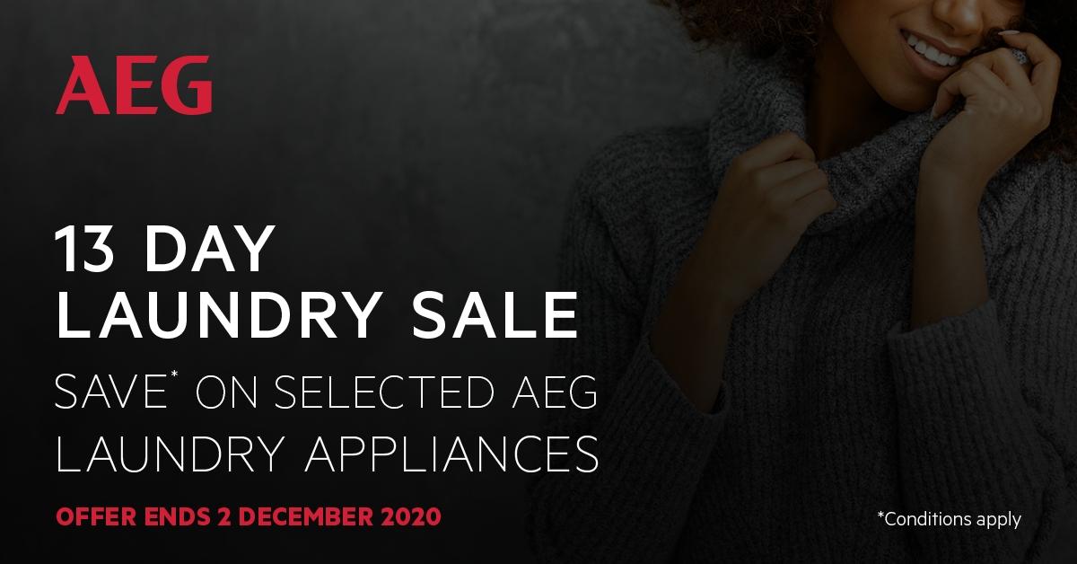 AEG 13 Day Sale 20th Nov - 2 Dec 2020