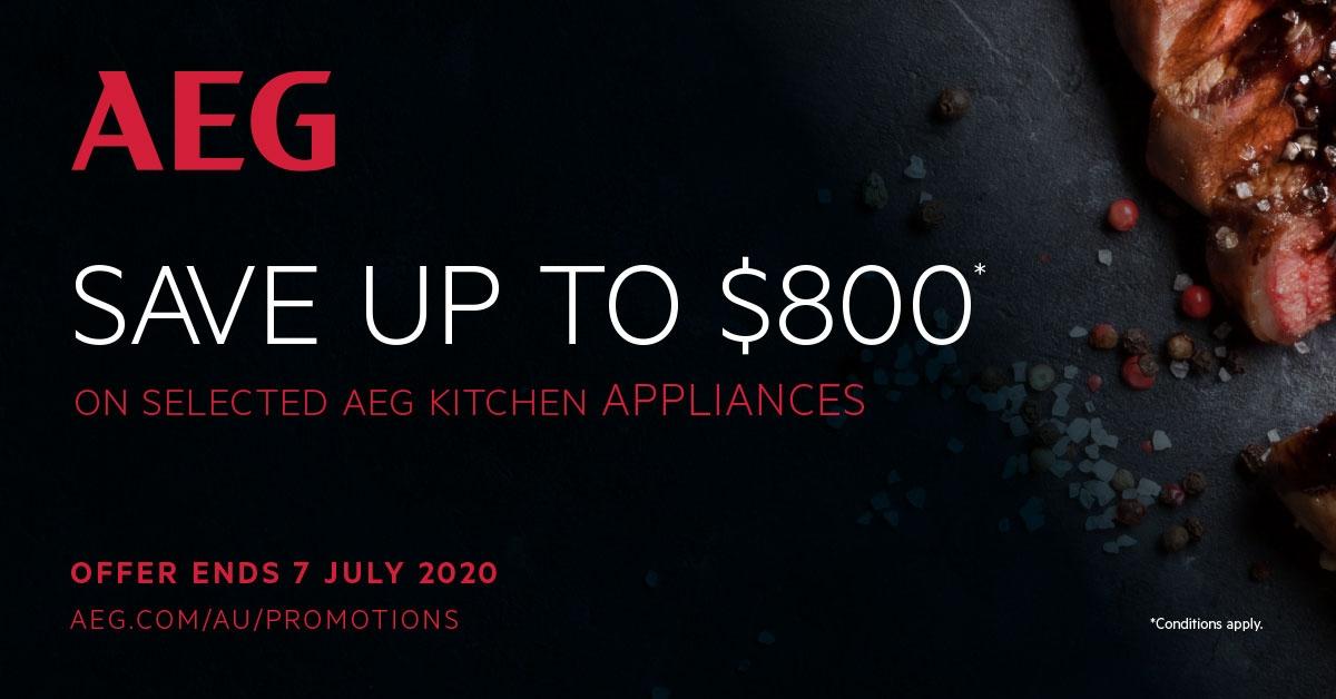 AEG Save Upto $800 on Selected AEG Kitchen Appliances