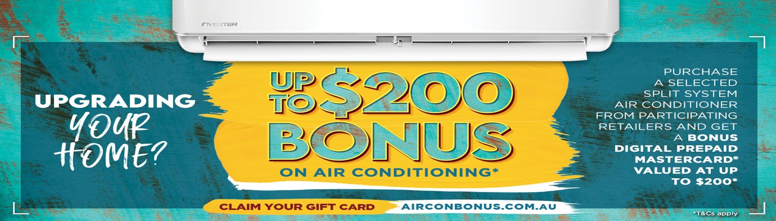 Aircon Gift Card Bonus November 2020