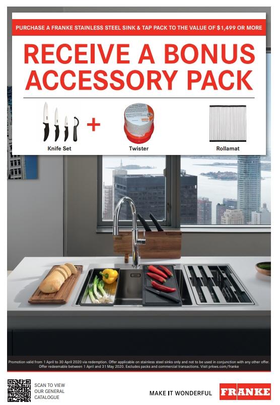 Franke Bonus Accessory Pack April 2020