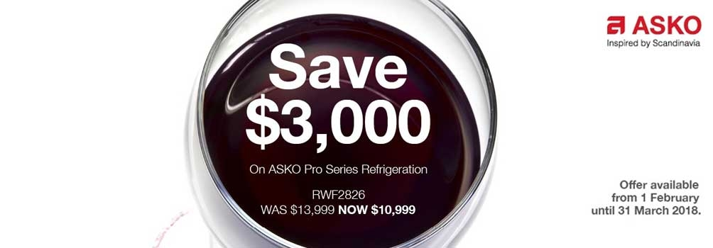 Camberwell Electrics ASKO FebMarch Fridge Promotion 2018
