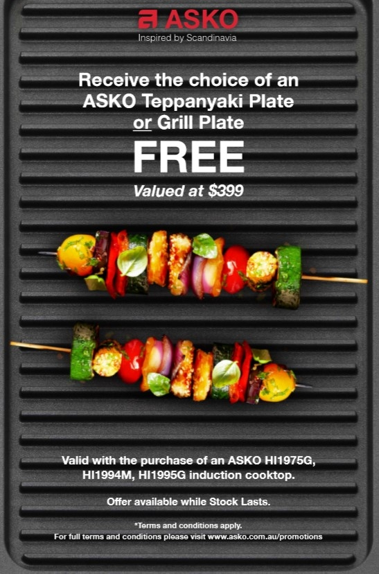 Purchase any Induction Cooktop recive free Grill Plate