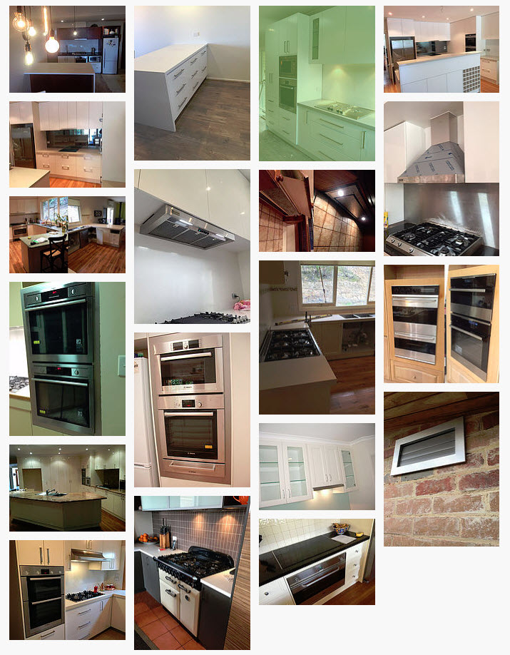 BCM Kitchen Appliance Sample Intallations Photo Gallery