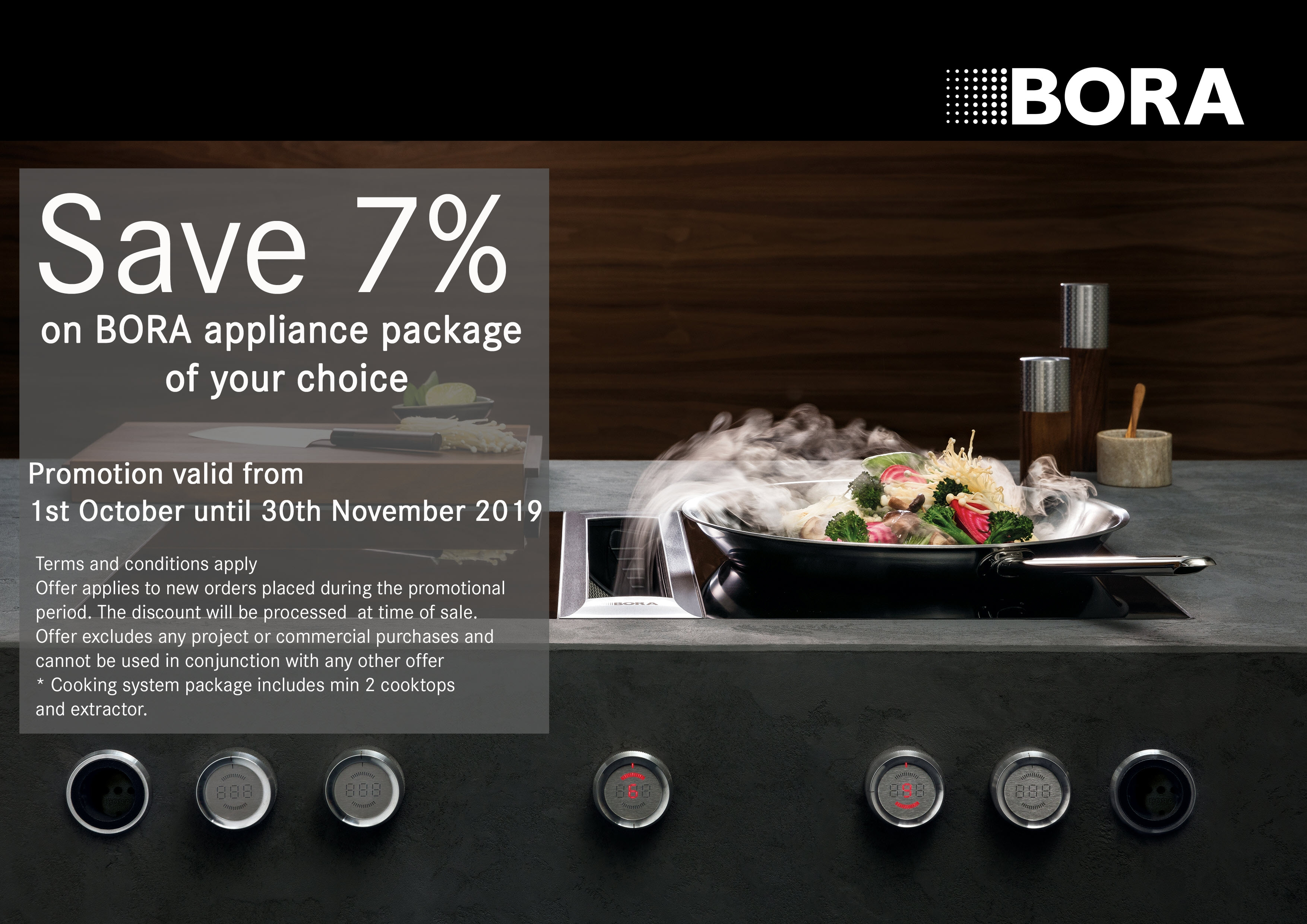 7% off all Bora Professional, Classic and Basic System