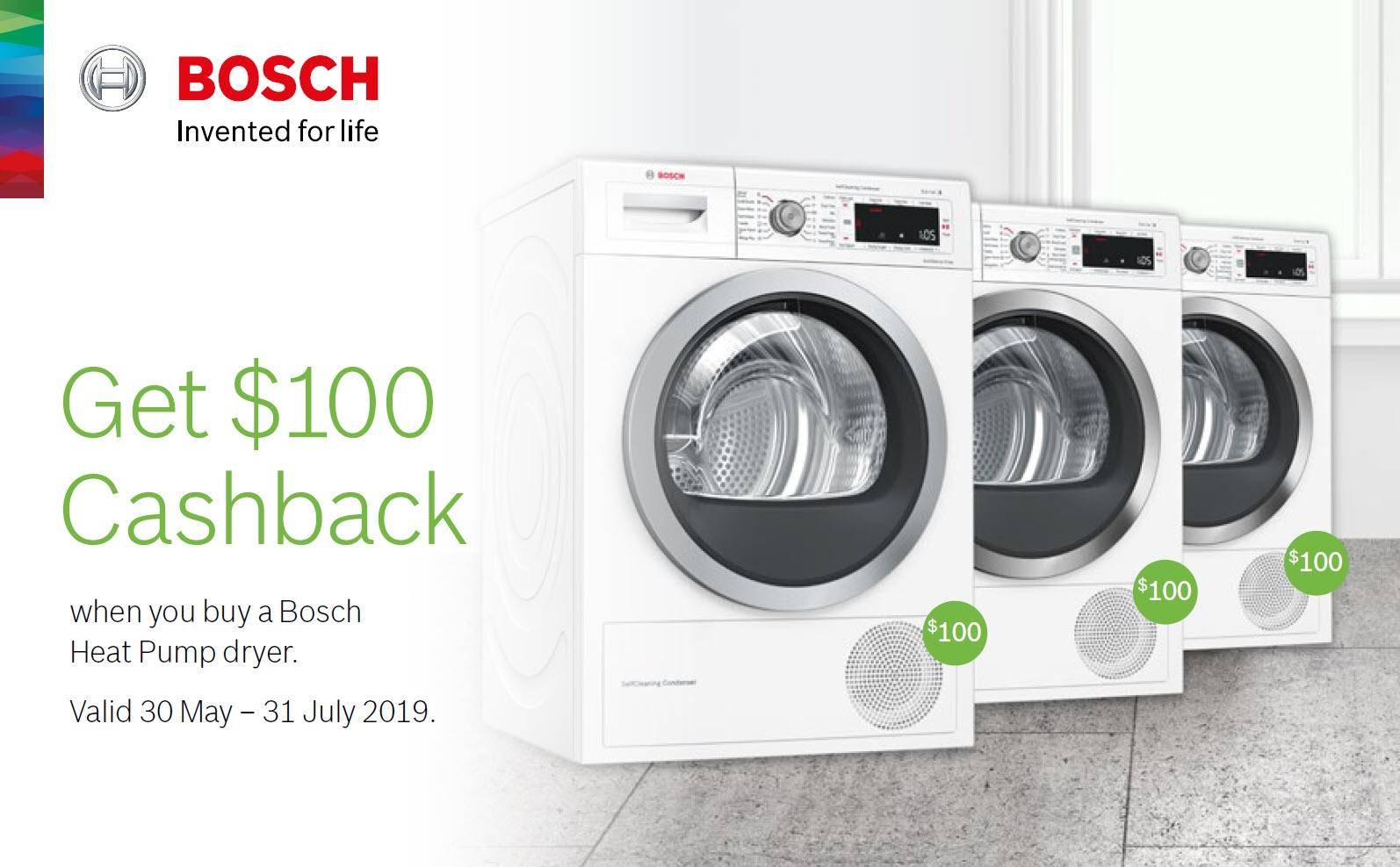 Bosch $ 100 Cashback Promotion