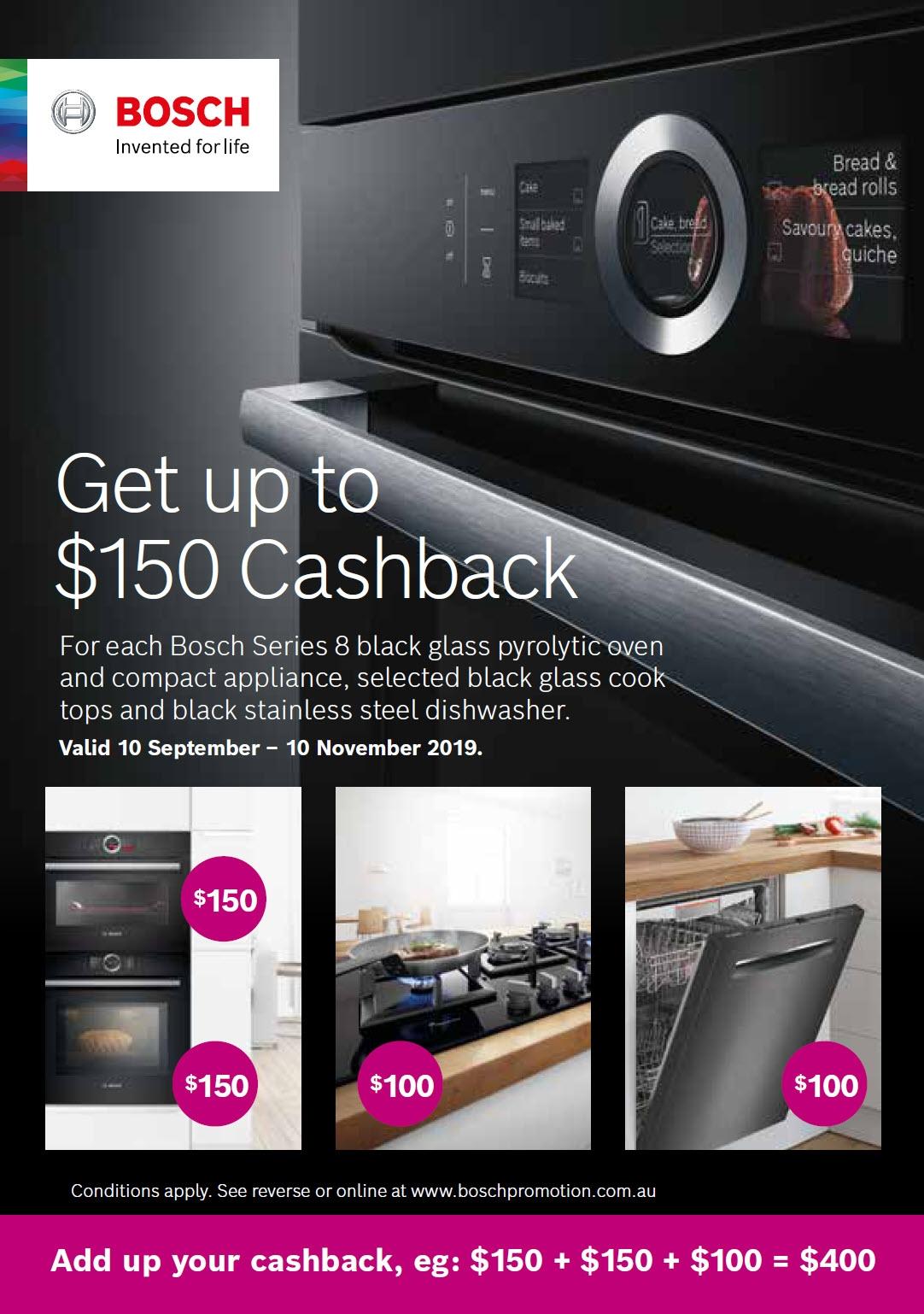Bosch $150 Cashback Promotion