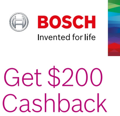 Bosch 200 Cashback 22 Feb - 30 April 2019