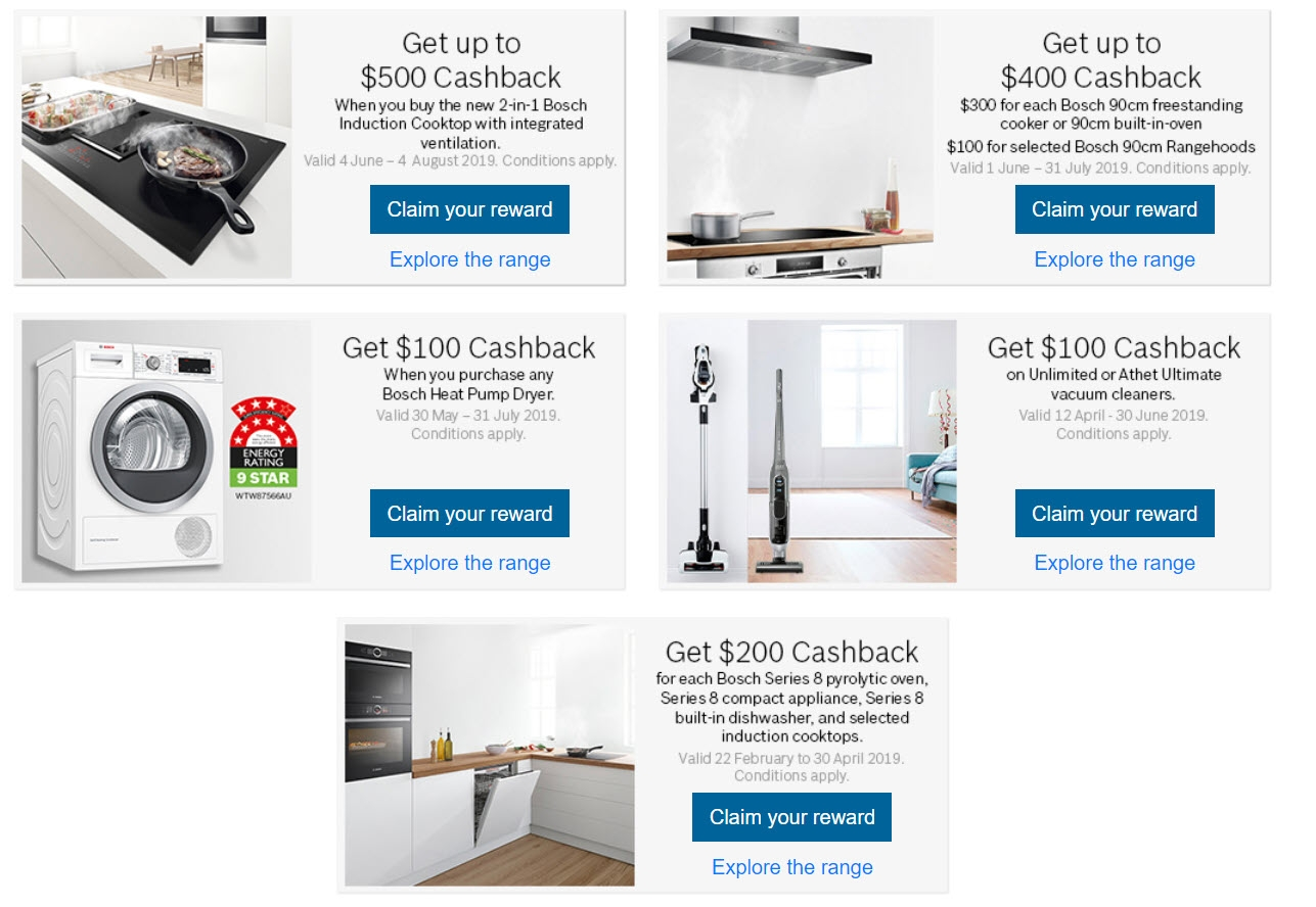 Bosch June July Cashback Promotion