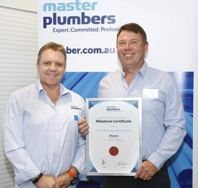 Brett Potter 30 Year Milestone Certificate