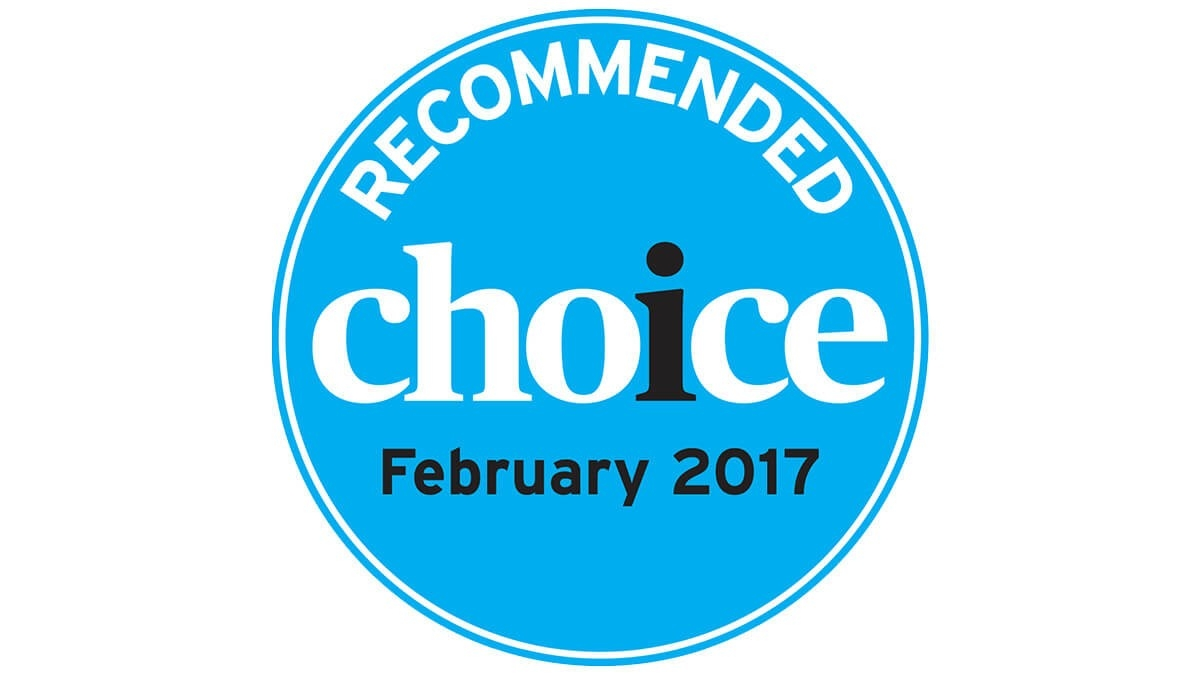 Endorsed by Choice Magazine