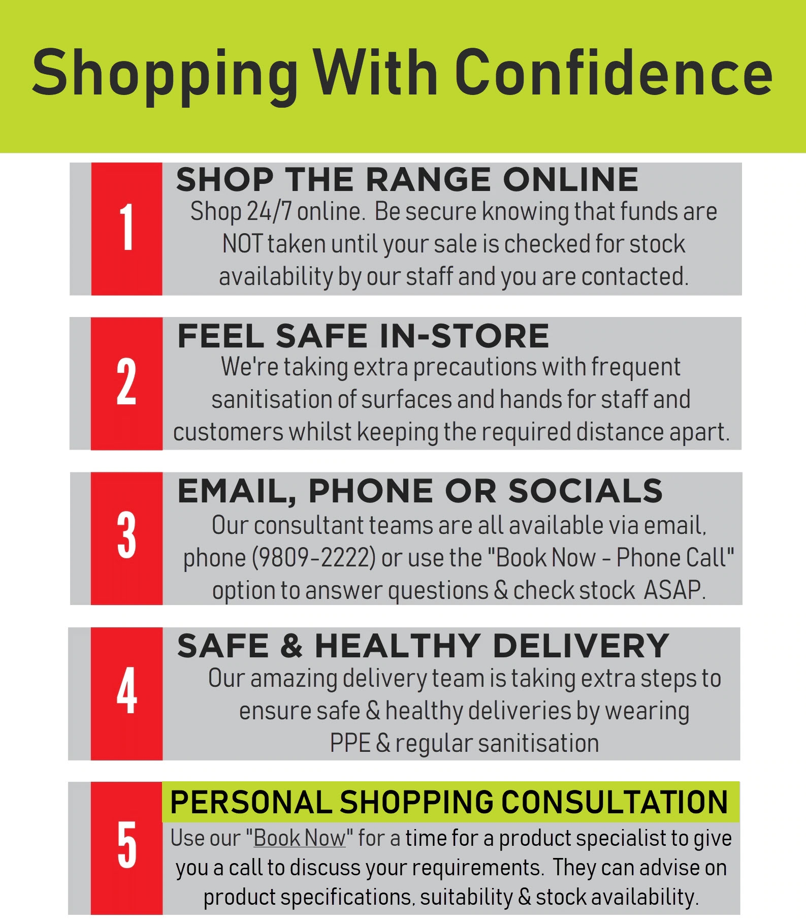 COVID 24 March 2020 Shopping With Confidence Update
