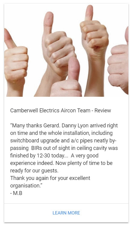 Camberwell Electrics Thumbs Up Review by M.B