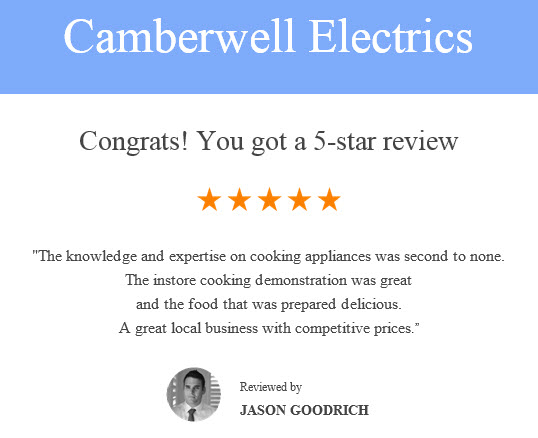 Camberwell Electrics 5 Star Review @ 1st May 2017