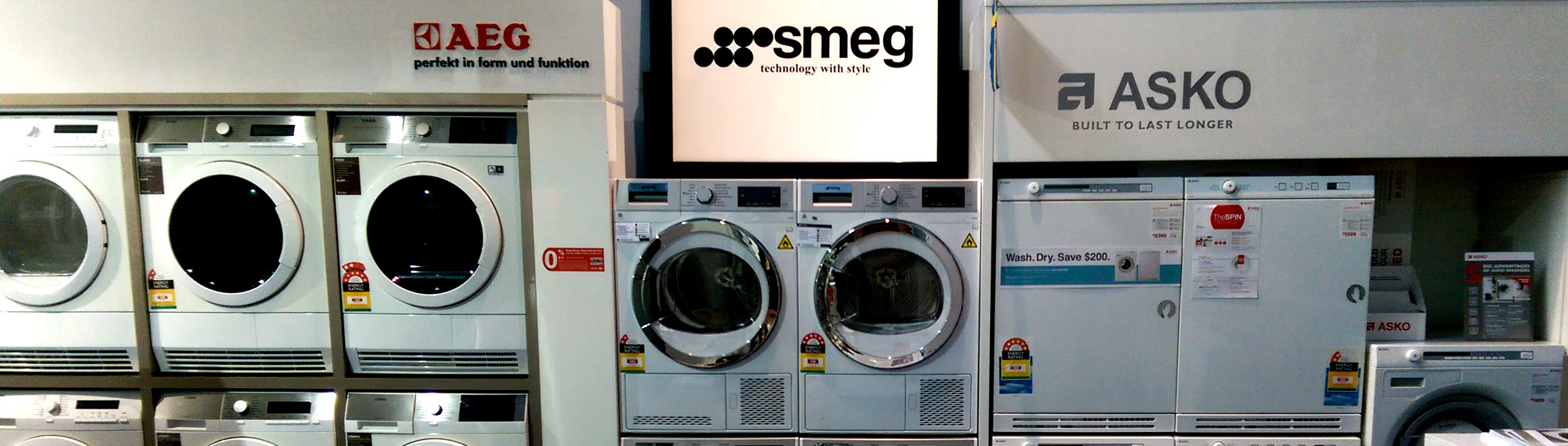 Camberwell Electrics Instore Washers & Dryers