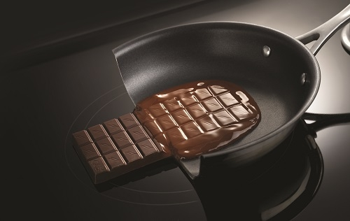Chocolate Melting on Induction Cooking Pan