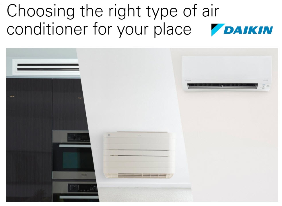 Choosing the right type of Daikin Aircon