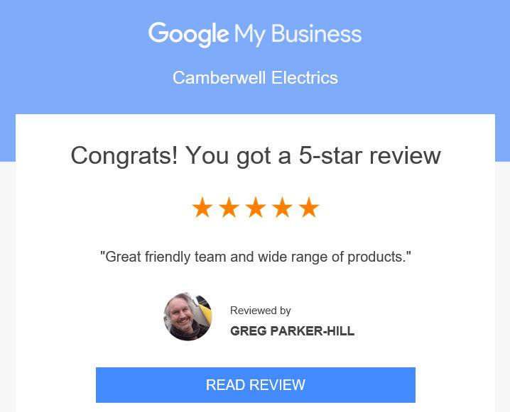 Congrats You got a 5 Star Review Greg Parker-Hill