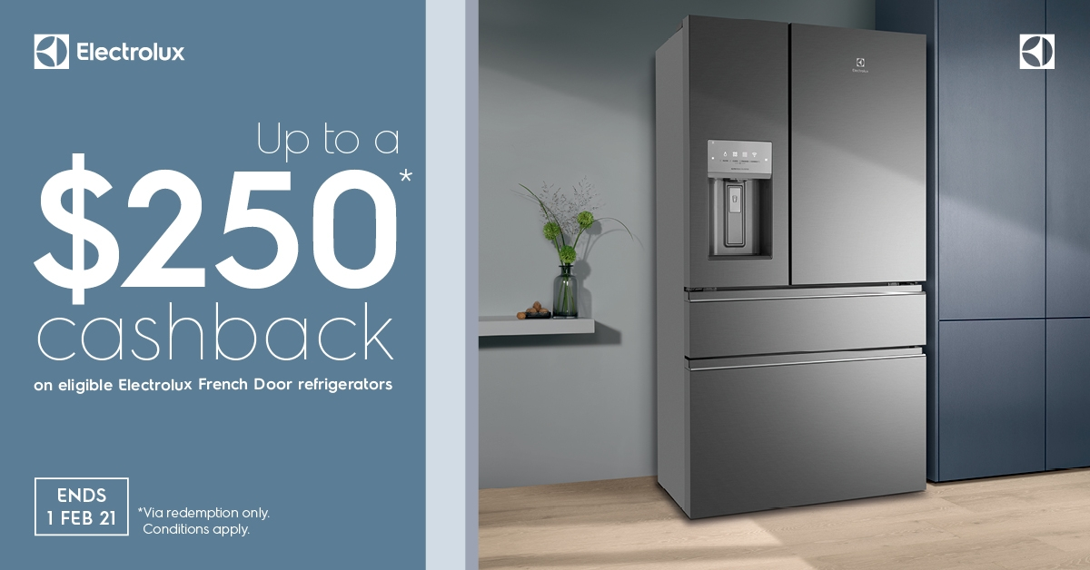 Electrolux Up to $250 Cashback Ends Feb 2021