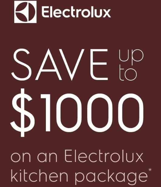 Save Upto $1000 on Electrolux Kitchen Package