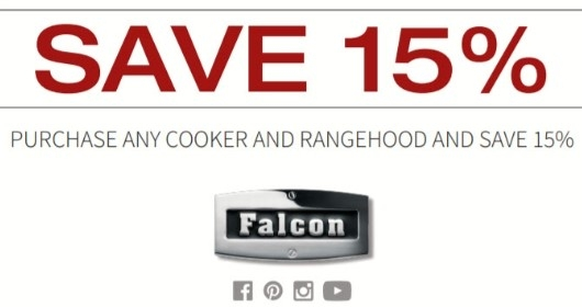 Save 15% Purchase Any Falcon Cooker and Rangehood