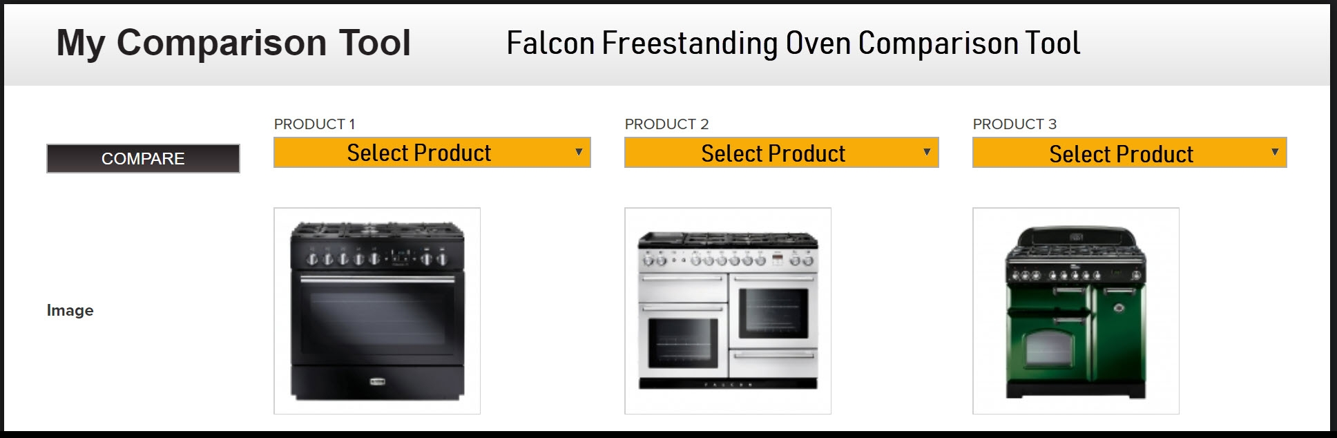 Click HERE to use the Falcon Freestanding Oven Comparison Tool