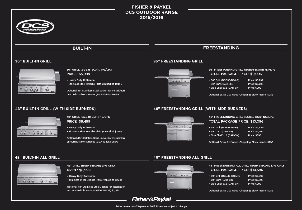 Fisher & Paykel DCS Range 2015-2016