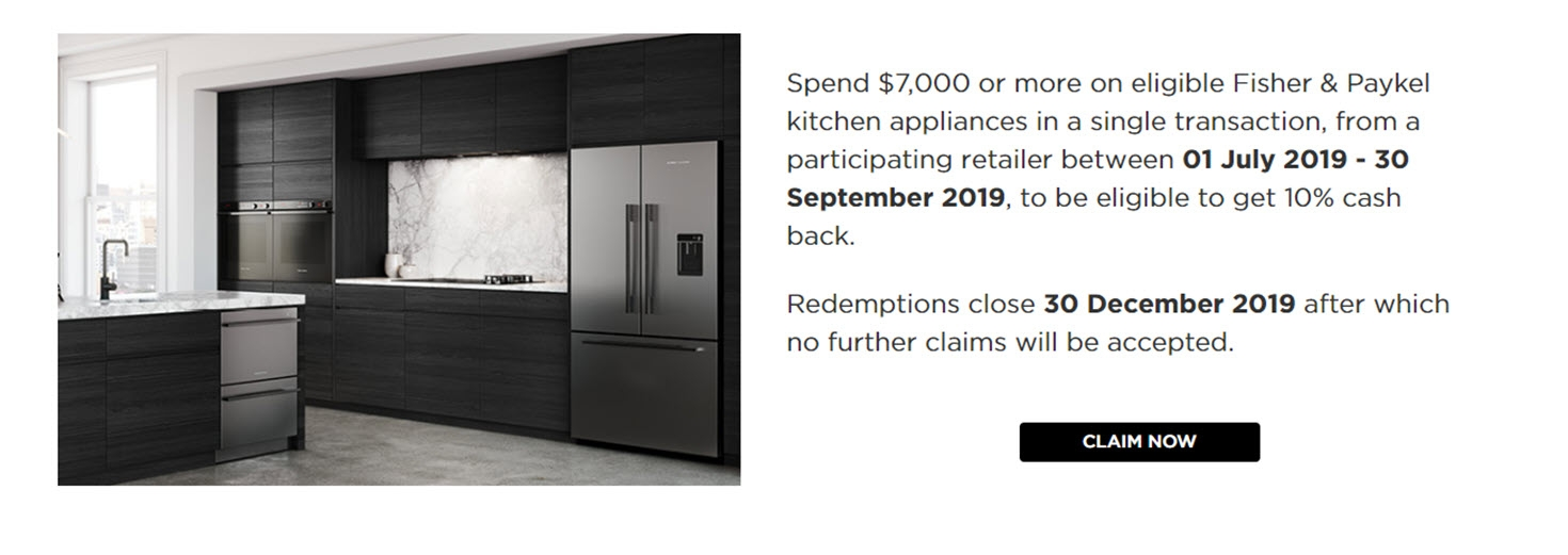 Fisher & Paykel Kitchen Appliances Promotions