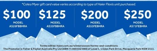 Haier Winter Season Gift Card Promotion June August 2019