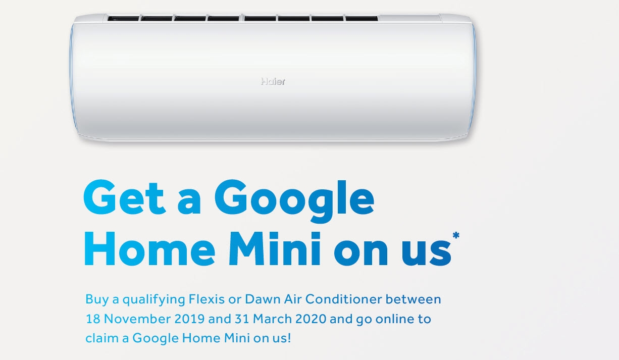Haier Air Conditioners Google Mini Home Promotion