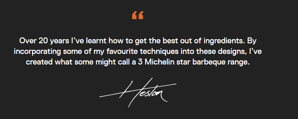 Everdue BBQ - Heston Blumenthal Quote