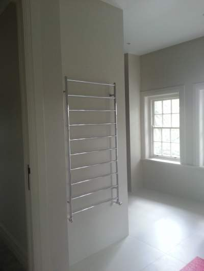 Hydronic Heating Heated Towel Rail Example 1