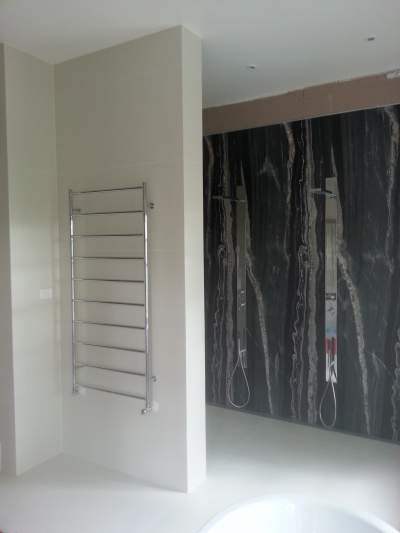 Hydronic Heating Heated Towel Rail Example 2
