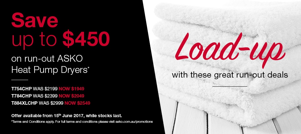 Camberwell Electrics ASKO Heat Pump Dryer June Promotion